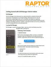 Getting Started with Drill Manager-District Admin