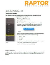Quick Start-Publishing A Drill
